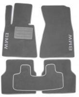 Коврики в салон для BMW 7 E65 '01-08 текстильные, серые (Люкс)