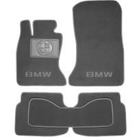 Коврики в салон для BMW 7 F01 '08-15 текстильные, серые (Люкс)
