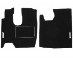 Коврики в салон для Mercedes Atego текстильные черные (Стандарт)