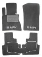 Коврики в салон для BMW X3 E83 '03-09 текстильные, серые (Люкс)