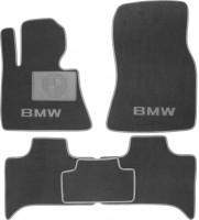 Коврики в салон для BMW X5 E53 '00-07 текстильные, серые (Люкс)