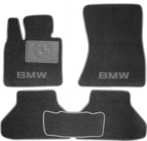 Коврики в салон для BMW X6 E71 '08- текстильные, серые (Люкс)