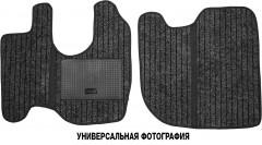 Коврики в салон для Mercedes Iveco Stralis, широкая кабина текстильные черные (Record)