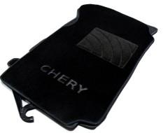 Коврики в салон для Chery Amulet '04-12 текстильные, черные (Люкс)