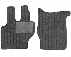 Коврики в салон для Mercedes 814 текстильные серые (Record)