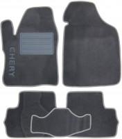 Коврики в салон для Chery Beat '11- текстильные, серые (Люкс)