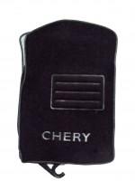 Коврики в салон для Chery Elara (Fora) '06- текстильные, черные (Люкс)