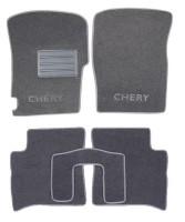 Коврики в салон для Chery Jaggi (QQ6) '06- текстильные, серые (Люкс)