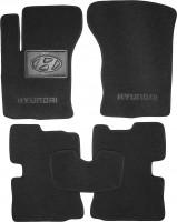 Коврики в салон для Hyundai Getz '02-11 текстильные, черные (Люкс)