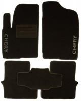 Коврики в салон для Chery M11 '08- текстильные, черные (Люкс)