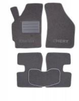 Фото 1 - Коврики в салон для Chery QQ3 S11 '03- текстильные, серые (Люкс)