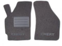 Фото 2 - Коврики в салон для Chery QQ3 S11 '03- текстильные, серые (Люкс)