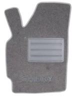 Фото 3 - Коврики в салон для Chery QQ3 S11 '03- текстильные, серые (Люкс)
