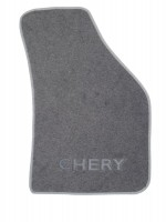 Фото 4 - Коврики в салон для Chery QQ3 S11 '03- текстильные, серые (Люкс)