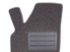 Фото 5 - Коврики в салон для Chery QQ3 S11 '03- текстильные, серые (Люкс)