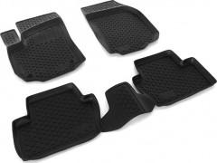 Коврики в салон для Opel Zafira '05-13 полиуретановые, черные (L.Locker)