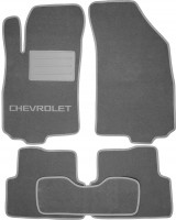 Textile-Pro Коврики в салон для Chevrolet Aveo '11- T300 текстильные, серые (Люкс)