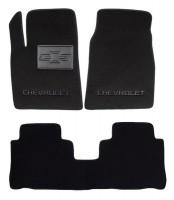 Коврики в салон для Chevrolet Captiva '06-10 текстильные, черные (Люкс)