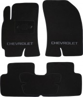 Коврики в салон для Chevrolet Epica '07-12 текстильные, черные (Люкс)