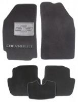 Коврики в салон для Chevrolet Spark '11- текстильные, черные (Люкс)
