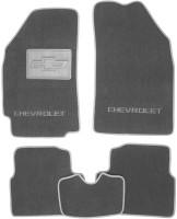 Коврики в салон для Chevrolet Spark '11- текстильные, серые (Люкс)