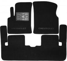 Коврики в салон для Chevrolet Tacuma '00-08 текстильные, черные (Люкс)