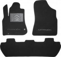 Коврики в салон для Citroen Berlingo '08- текстильные, черные (Люкс) 2 клипсы