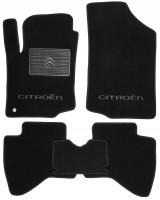 Коврики в салон для Citroen C1 '05-14 текстильные, черные (Люкс)