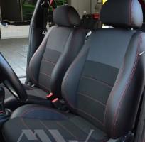 Авточехлы Premium для салона Skoda Octavia '97-09 WTS красная строчка (MW Brothers)