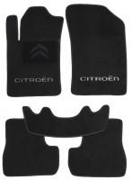 Коврики в салон для Citroen C3 / DS3 '10-16 текстильные, черные (Люкс)