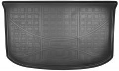 Коврик в багажник для Kia Soul '14-, резино/пластиковый (Nor-Plast) чёрный