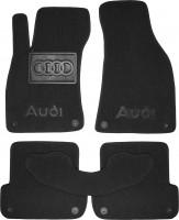 Коврики в салон для Audi A4 '05-08 текстильные, черные (Люкс), 8 клипсы