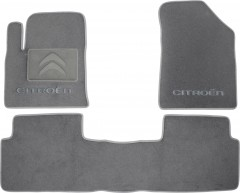 Коврики в салон для Citroen C5 / DS5 '08- текстильные, серые (Люкс)