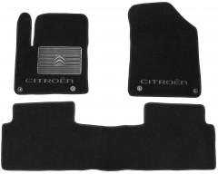 Коврики в салон для Citroen C5 '08- текстильные, черные (Люкс) 4 клипсы
