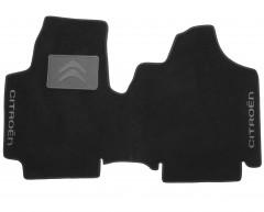 Коврики в салон для Citroen Jumpy '07- текстильные, черные (Люкс)