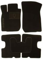 Коврики в салон для Dacia Logan '04-12 текстильные, черные (Люкс)
