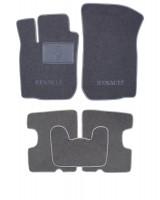 Коврики в салон для Dacia Logan '04-12 текстильные, серые (Люкс)