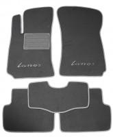 Коврики в салон для Daewoo Lanos / Sens '98- текстильные, серые (Люкс)