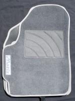 Коврики в салон для Daewoo Matiz '01- текстильные, серые (Люкс)