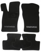 Коврики в салон для Daewoo Nexia текстильные, черные (Люкс)