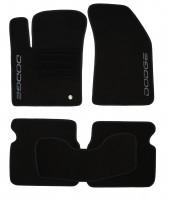 Коврики в салон для Dodge Avenger '07-13 текстильные, черные (Люкс)