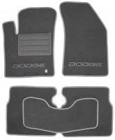 Коврики в салон для Dodge Avenger '07-13 текстильные, серые (Люкс)