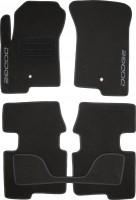 Коврики в салон для Dodge Caliber '07-12 текстильные, черные (Люкс)