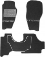 Коврики в салон для Dodge Nitro '07-12 текстильные, серые (Люкс)