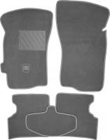 Коврики в салон для Fiat Albea '02-11 текстильные, серые (Люкс)
