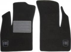 Коврики в салон для Fiat Doblo '01-09 текстильные, черные (Люкс) передние