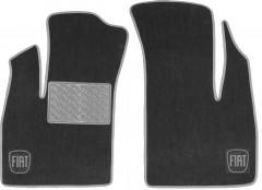 Коврики в салон для Fiat Doblo '01-09 текстильные, серые (Люкс) передние