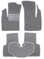 Коврики в салон для Fiat Doblo '01-09 текстильные, серые (Люкс)