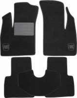 Коврики в салон для Fiat Doblo '01-09 текстильные, черные (Люкс)