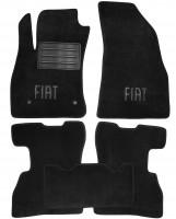 Коврики в салон для Fiat Doblo '10- текстильные, черные (Люкс)